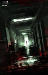 Speedpaint - Haunted Hospital by danielbogni