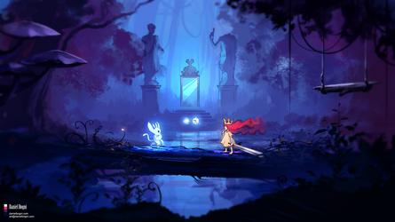Light Encounter - Ori + Aurora - Fanart by danielbogni