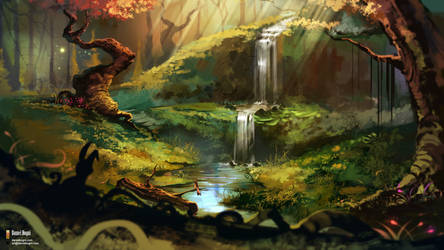 Peaceful Place - Commission by danielbogni