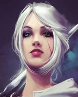 Ciri - Witcher 3 Wild Hunt - Fanart by danielbogni