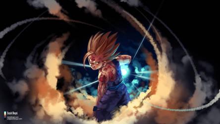 Dragon Ball Z - Gohan - Fanart by danielbogni