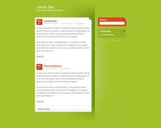 Wordpress template: Freshnesss by Jonnotie