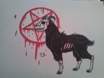 Satanic Goat Thing by Steelixxx