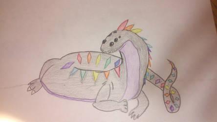 Rainbow Dragon! by TheAnimalDrawer
