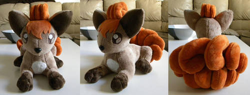 Vulpix Plushie by PeaceFluffles