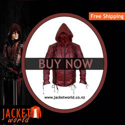 Arrow Red Leather jacket by catherinejanson29