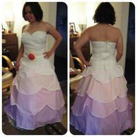Rose Quartz dress WIP by Arualsti