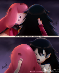 Princess bubblegum and Marceline by Hinata1495