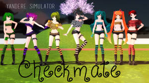 [MMD] Yandere Simulator - Checkmate Girls (V2) by LiliArt1