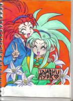 ryoko and washu by dragonwitch