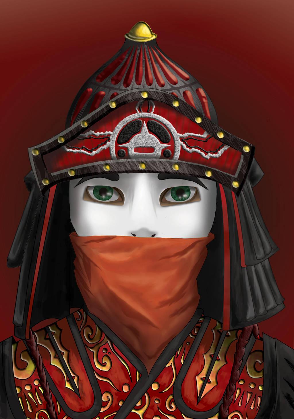 Chinese warrior by xLilu