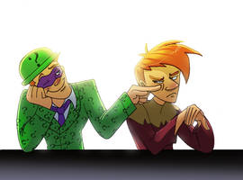 Riddler annoying scarecrow by pink-ninja