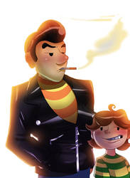 Mother4_Travis and Leo by pink-ninja