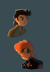 Young edward and M.M pin ups by pink-ninja