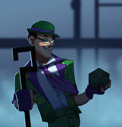 Arkham city riddler by pink-ninja