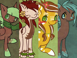 Ponies I made by cappydarn