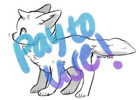 Pay to use fox line art! by foxtribe