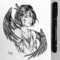.: Sparrow - ( Inktober Day 6 ) :. by ryancamargos