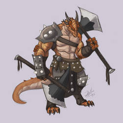 Barbarian DragonBorn by ThatweirdguyJosh
