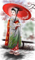 the red parasol by amie689