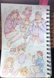 Sketch book doodles by TripleTartArt3