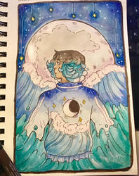 Waves And Stars. Day 6# by TripleTartArt3
