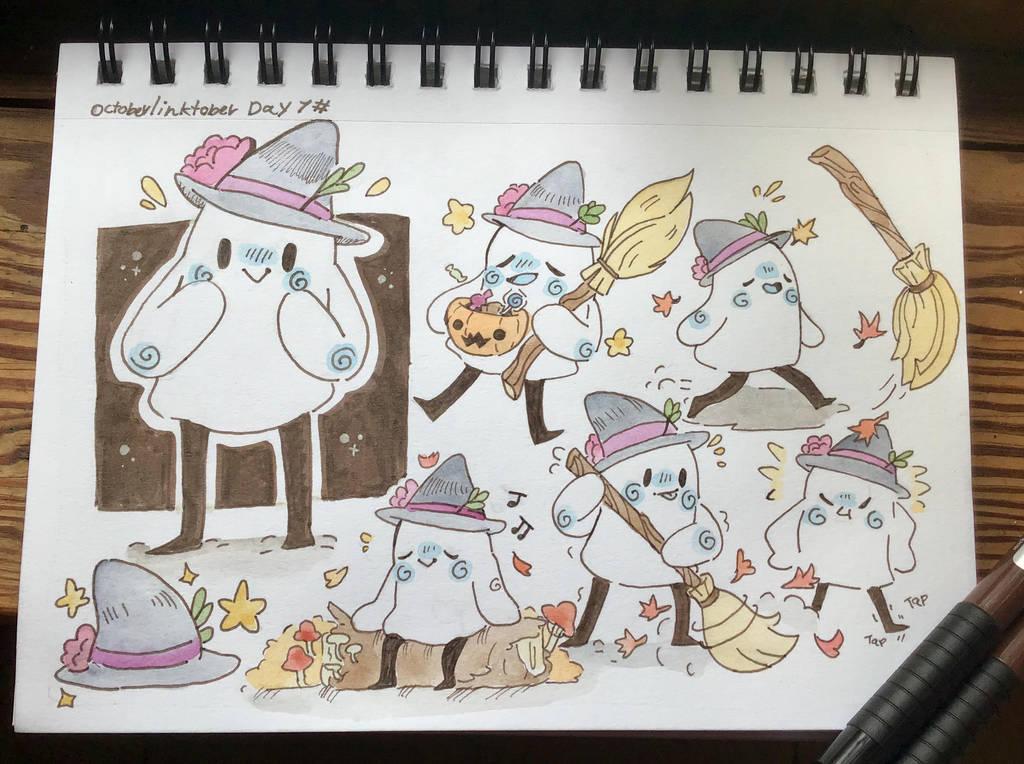 Little Ghosty Witch! Day 7# by TripleTartArt3