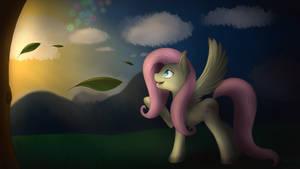 Fluttershy Fireflies by ImShySoIhide