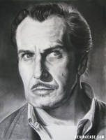 Charcoal: Vincent Price by KevinCease