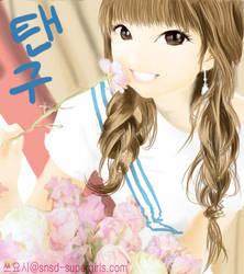 SNSD fan art....Taeyeon by tsuyochii