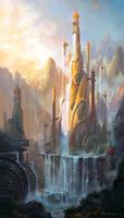 fantasy Castle by peterconcept