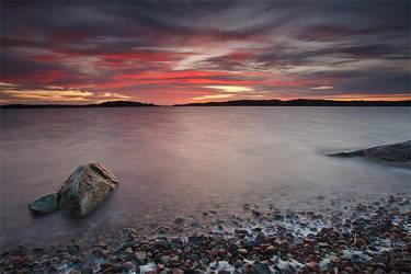 Autumn sunset by koposs