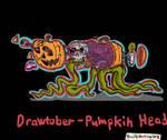 Drawtober 2018-Day 1- Pumpkin Head by PenciltipWorkshop