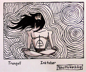 Inktober 2018-Day 2- Tranquil by PenciltipWorkshop