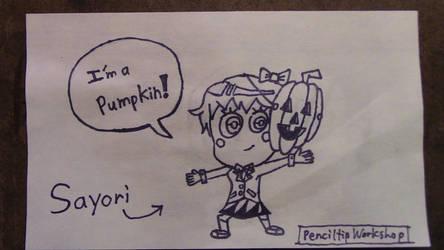 Sayori is a Pumpkin by PenciltipWorkshop