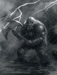 Dwarf Sketch by Simon Buckroyd by Binoched