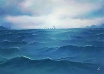 Sea Serpent by Julia-Aurora