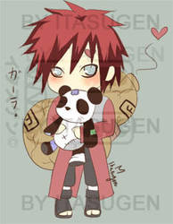 Naruto : Gaara Panda Hug by Itasugen
