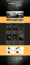 Hardware web template by 1PSD