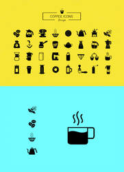 Coffee icons by 1PSD