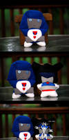 Mirage and Starscream Plushies by The-Starhorse