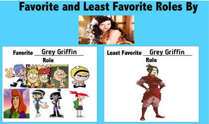 Favorite roles and least fav. role of Grey Griffin by MarJulSanSil