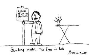 Ironing Cartoon by Someonelikemyself