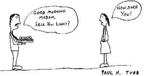 Ligth Seller Cartoon by Someonelikemyself