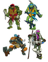 RoTMNT Offical Concept Art by GuardianoftheSnow