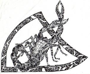 Lined Scorpion by TastyRat