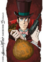 LUPIN  'Lupin 3 as Lupin 1' by handesigner