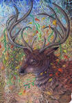 red deer decoration by dawndelver