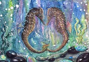 Seahorses by dawndelver