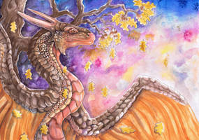 Oak Tree Dragon by dawndelver